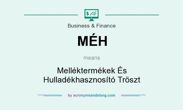 What does MÉH mean? It stands for Melléktermékek És Hulladékhasznosító Tröszt
