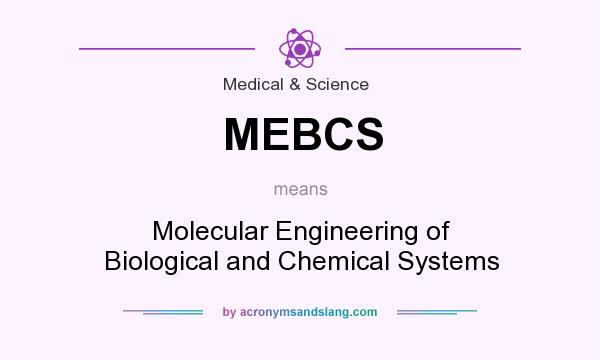 What does MEBCS mean? It stands for Molecular Engineering of Biological and Chemical Systems