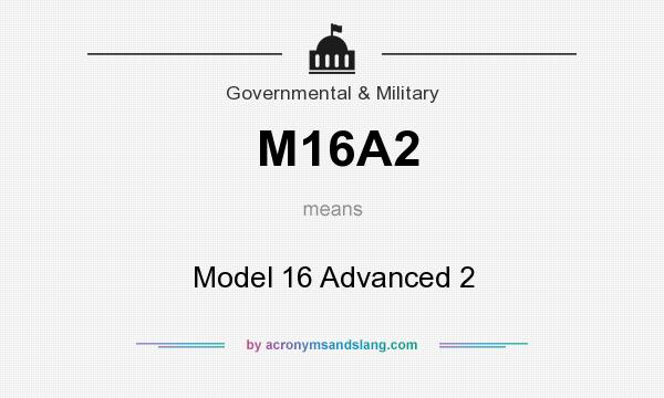 What does M16A2 mean? It stands for Model 16 Advanced 2