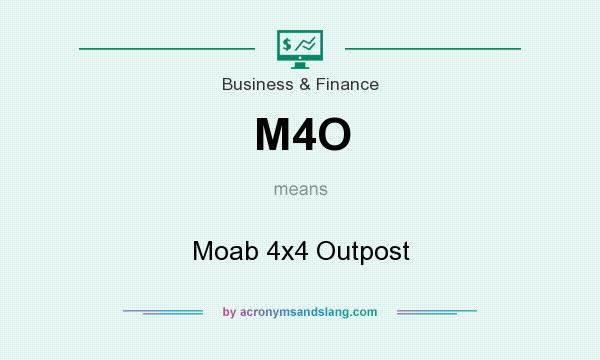 What does M4O mean? It stands for Moab 4x4 Outpost