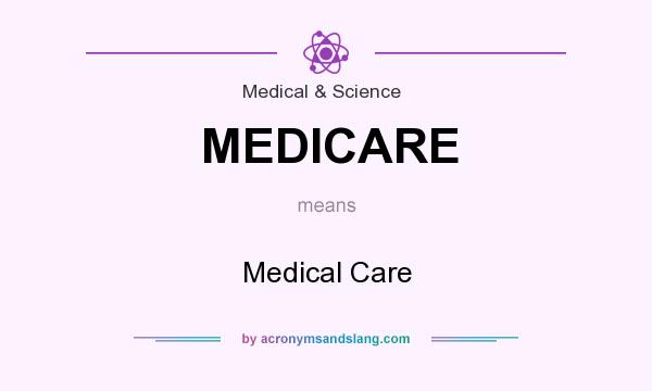 What does MEDICARE mean? It stands for Medical Care