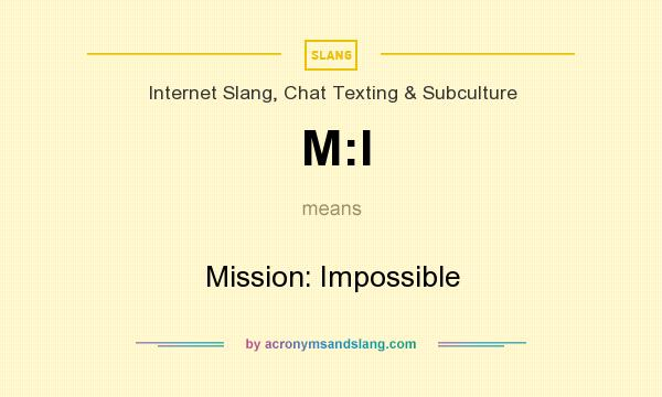 What does M:I mean? It stands for Mission: Impossible