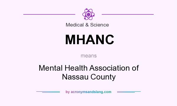 What does MHANC mean? It stands for Mental Health Association of Nassau County
