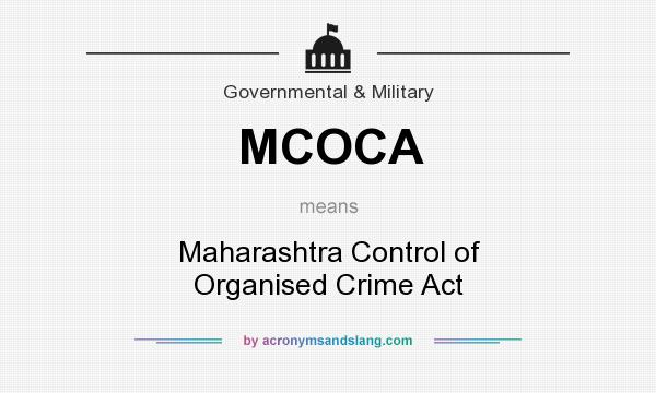 What does MCOCA mean? - Defini...