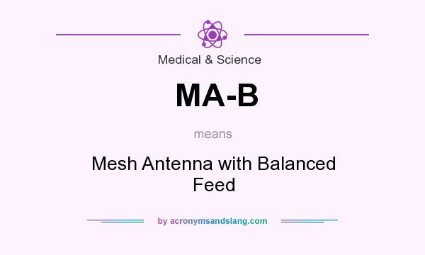 What does MA-B mean? It stands for Mesh Antenna with Balanced Feed