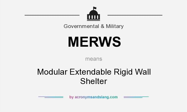 What does merws mean definition of merws merws stands for Define prefabricated