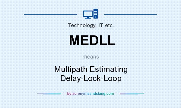 What does MEDLL mean? It stands for Multipath Estimating Delay-Lock-Loop