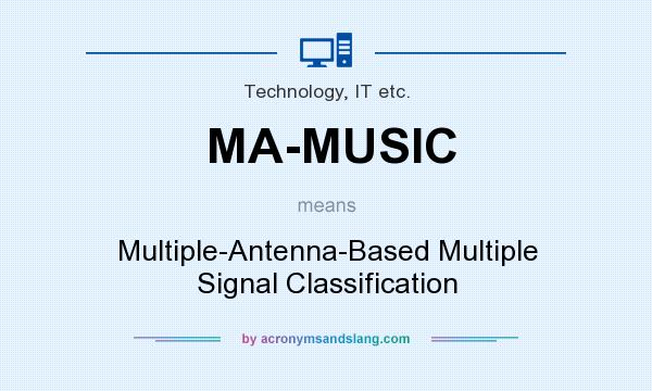 What does MA-MUSIC mean? It stands for Multiple-Antenna-Based Multiple Signal Classification