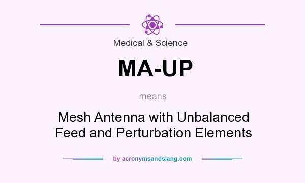 What does MA-UP mean? It stands for Mesh Antenna with Unbalanced Feed and Perturbation Elements