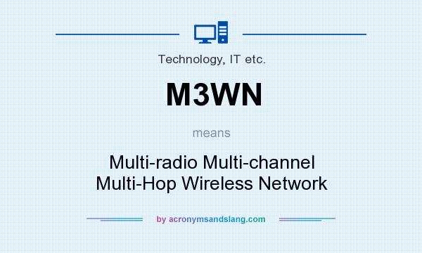 What does M3WN mean? It stands for Multi-radio Multi-channel Multi-Hop Wireless Network