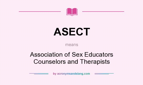 Sex educators counselors and therapists