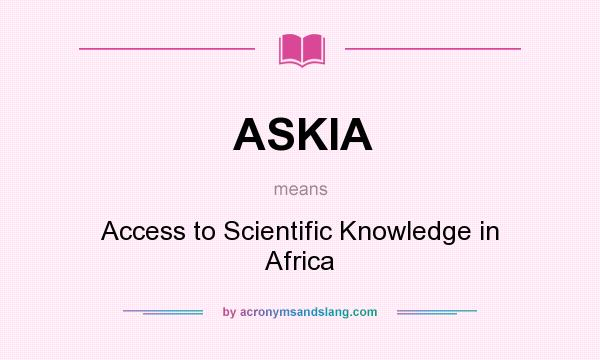 What is scientific knowledge ?