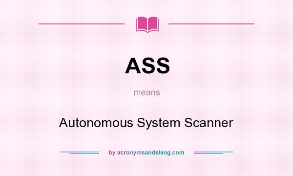 What does ASS mean? It stands for Autonomous System Scanner