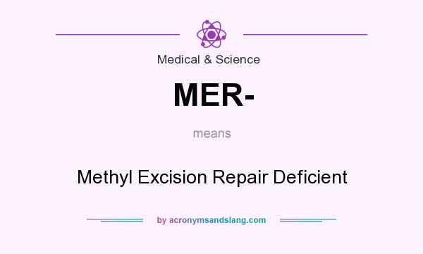 What does MER- mean? It stands for Methyl Excision Repair Deficient