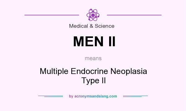 What does MEN II mean? It stands for Multiple Endocrine Neoplasia Type II