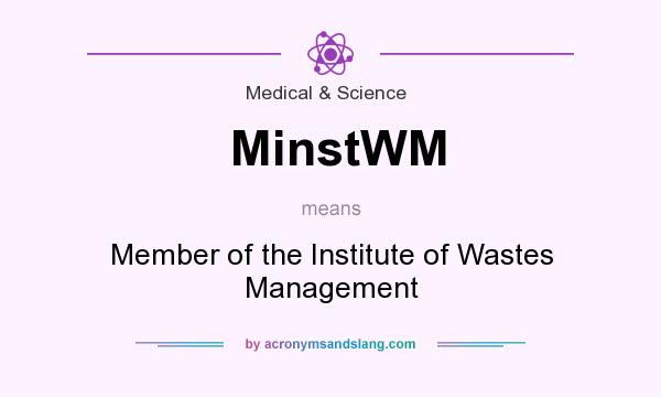 What does MinstWM mean? It stands for Member of the Institute of Wastes Management