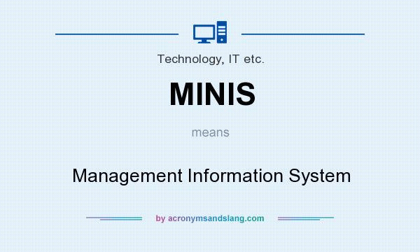 What does MINIS mean? It stands for Management Information System