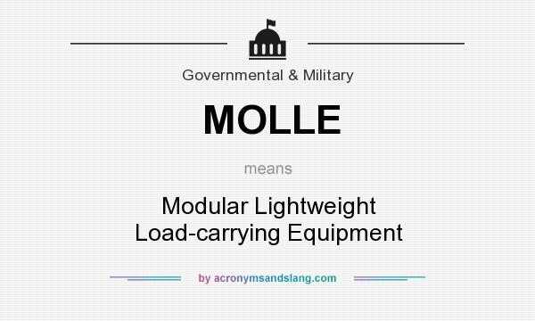 What does MOLLE mean? It stands for Modular Lightweight Load-carrying Equipment