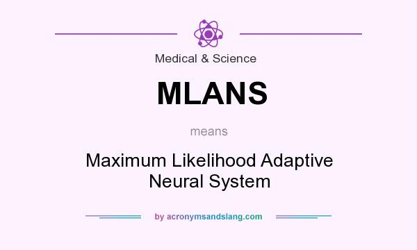 What does MLANS mean? It stands for Maximum Likelihood Adaptive Neural System