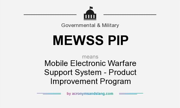 What does MEWSS PIP mean? It stands for Mobile Electronic Warfare Support System - Product Improvement Program