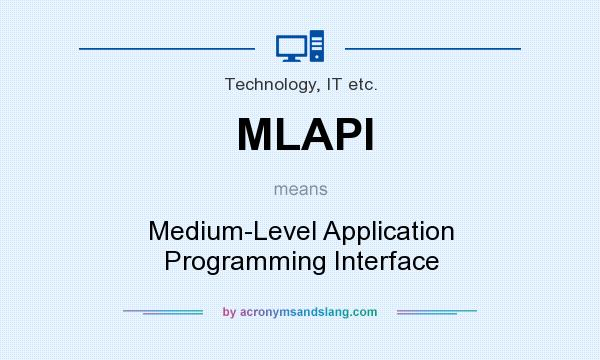 What does MLAPI mean? It stands for Medium-Level Application Programming Interface
