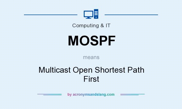 What does MOSPF mean? It stands for Multicast Open Shortest Path First