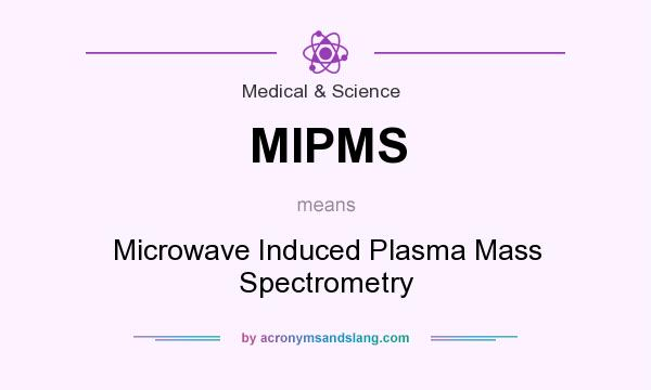 What does MIPMS mean? It stands for Microwave Induced Plasma Mass Spectrometry
