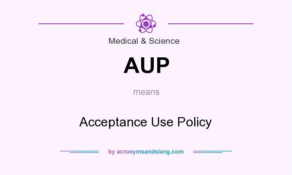 What does AUP mean? It stands for Acceptance Use Policy