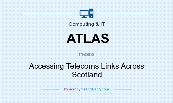 What does ATLAS mean? It stands for Accessing Telecoms Links Across Scotland