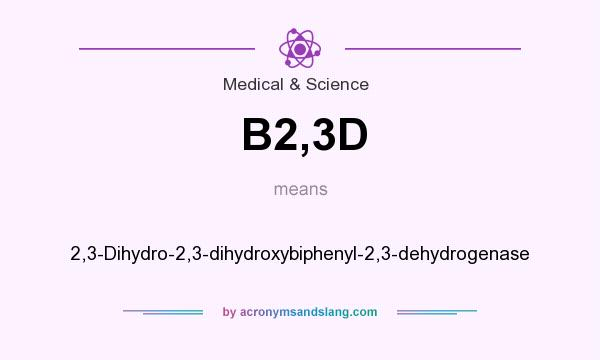 What does B2,3D mean? It stands for 2,3-Dihydro-2,3-dihydroxybiphenyl-2,3-dehydrogenase