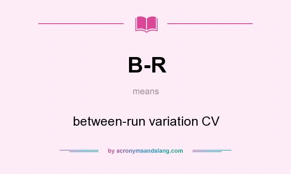 What does B-R mean? It stands for between-run variation CV