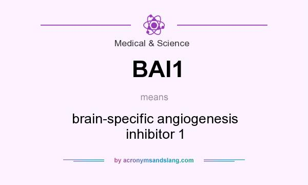 What does BAI1 mean? It stands for brain-specific angiogenesis inhibitor 1