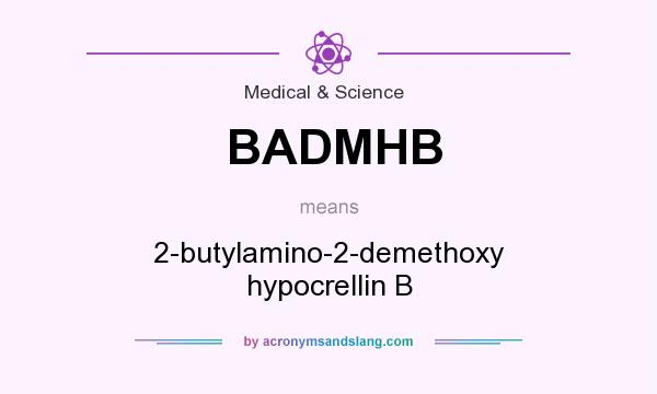 What does BADMHB mean? It stands for 2-butylamino-2-demethoxy hypocrellin B