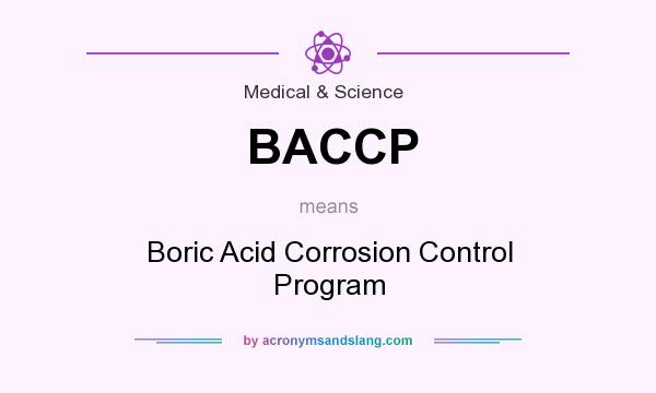 What does BACCP mean? It stands for Boric Acid Corrosion Control Program