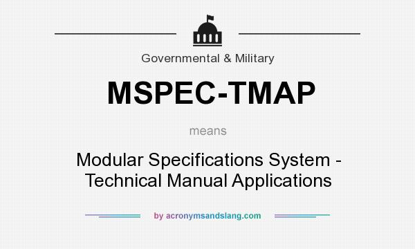 What does mspec tmap mean definition of mspec tmap for Define prefabricated