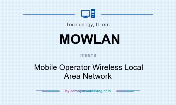 What does MOWLAN mean? It stands for Mobile Operator Wireless Local Area Network