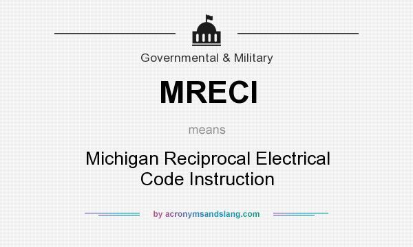MRECI - Michigan Reciprocal Electrical Code Instruction in ...