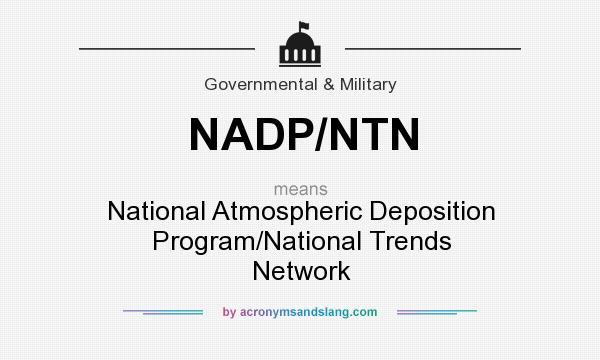 What does NADP/NTN mean? It stands for National Atmospheric Deposition Program/National Trends Network