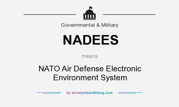 What does NADEES mean? It stands for NATO Air Defense Electronic Environment System