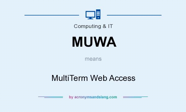 What does MUWA mean? It stands for MultiTerm Web Access