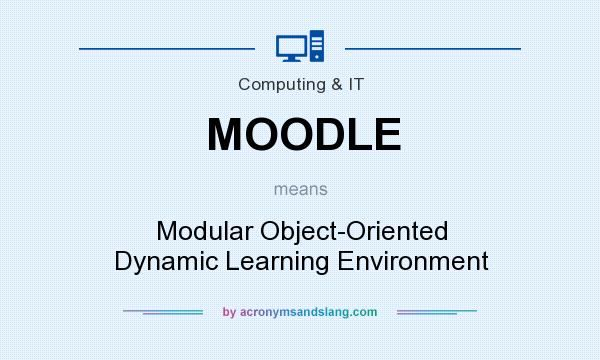 What does MOODLE mean? It stands for Modular Object-Oriented Dynamic Learning Environment