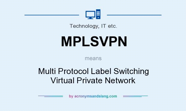 What does MPLSVPN mean? It stands for Multi Protocol Label Switching Virtual Private Network