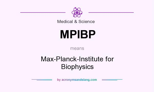 What does MPIBP mean? It stands for Max-Planck-Institute for Biophysics