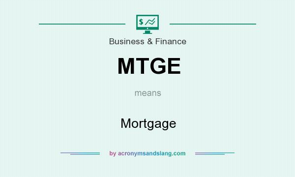 What does MTGE mean? It stands for Mortgage
