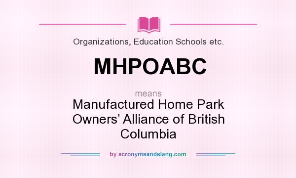 What Does MHPOABC Mean