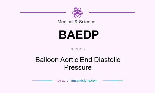 What does BAEDP mean? It stands for Balloon Aortic End Diastolic Pressure