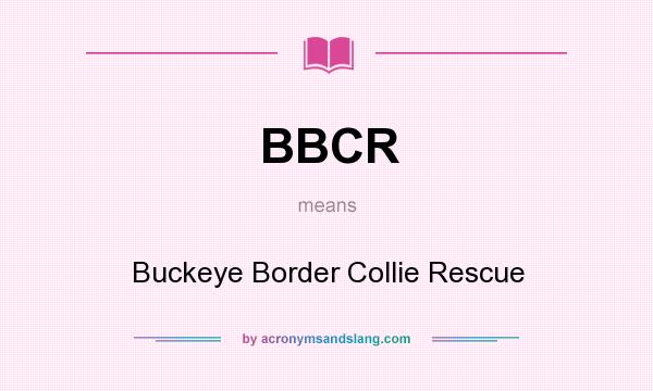 What does BBCR mean? It stands for Buckeye Border Collie Rescue