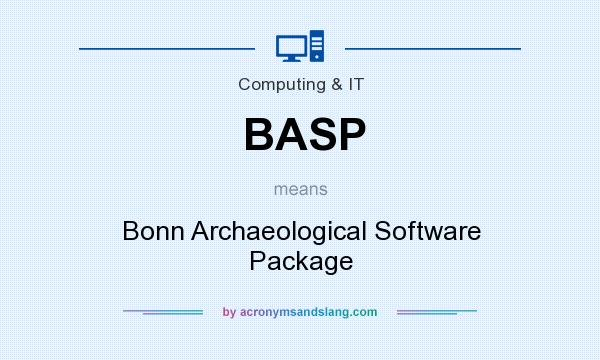 What does BASP mean? It stands for Bonn Archaeological Software Package