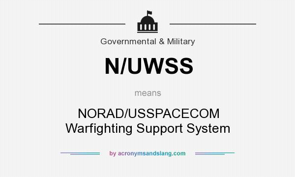 What does N/UWSS mean? It stands for NORAD/USSPACECOM Warfighting Support System