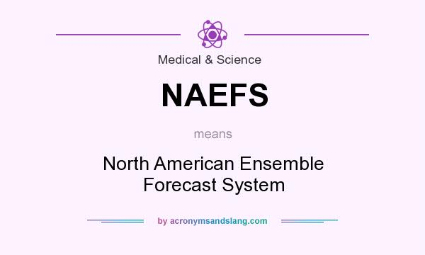 What does NAEFS mean? It stands for North American Ensemble Forecast System